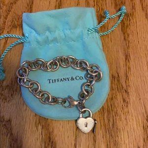 Tiffany &Co. bracelet with heart lock & key charm